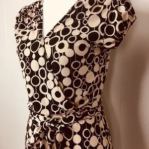 Super cute faux wrap dress